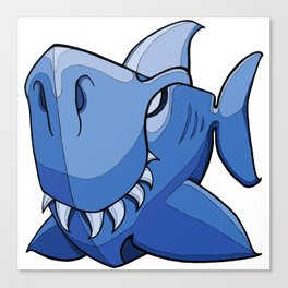 Shark - Little Boy Blue Canvas Print