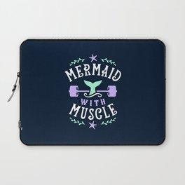 Mermaid With Muscle Laptop Sleeve