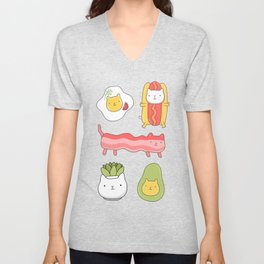 Cat food and succulent Unisex V-Neck