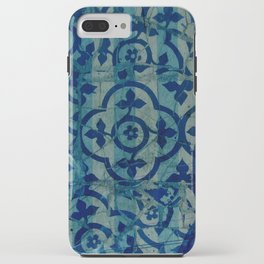 mosaic in cyan iPhone Case