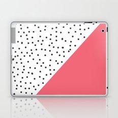 Geometric grey and pink design Laptop & iPad Skin