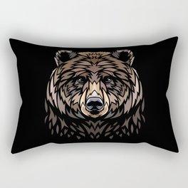 Tribal Frontal bear Rectangular Pillow