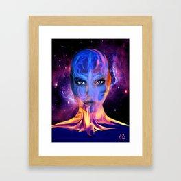 Real Fire Framed Art Print