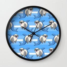 Sharky Pug Wall Clock