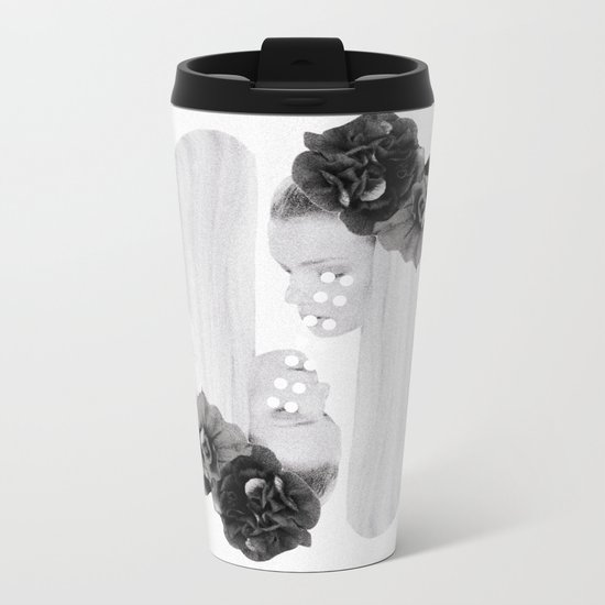selene and eos (black and white) Metal Travel Mug