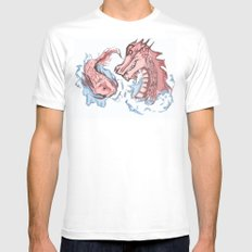 Koi Transformation Mens Fitted Tee White MEDIUM