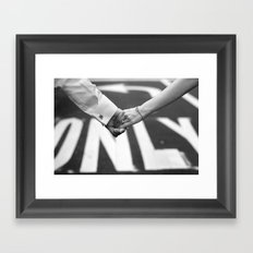 Hand In Hand | Love | Engagement Framed Art Print