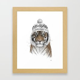 Siberian tiger Framed Art Print