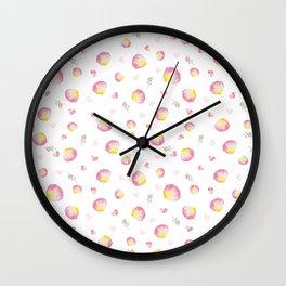 Mixed Hearts Wall Clock