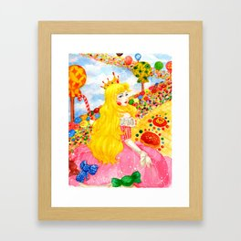 Candy Princess from Fairy Tales Framed Art Print