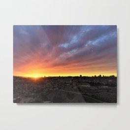 Jerusalem Sunset Metal Print