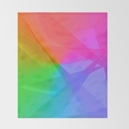 """ life colors"" Rainbow geometric Throw Blanket"