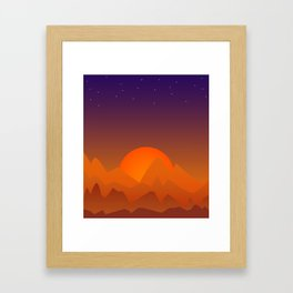 Slumbering Hills, Southwestern Landscape Art Framed Art Print