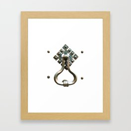 Firenze | Door Knocker Series Framed Art Print