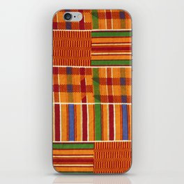 Ethnic African Kente Cloth Pattern iPhone Skin
