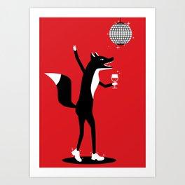 Fancy Fox Art Print