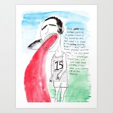 LONG DISTANCE RUNNER Art Print