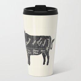 Beef Butcher Diagram Travel Mug