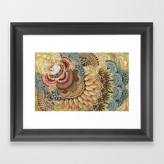 Asleep in the Quilted Forest: The Fox Framed Art Print
