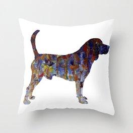 Beagle Oil Painting Throw Pillow