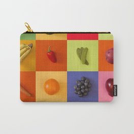 Modern Tile Collage of Fresh Organic Produce Carry-All Pouch