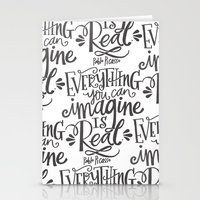 imagine Stationery Cards featuring IMAGINE by Matthew Taylor Wilson