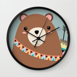 tribal bear Wall Clock
