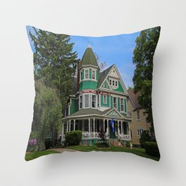 Old West End Green 3- II Throw Pillow