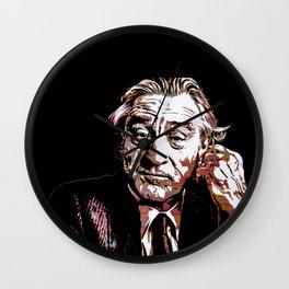 Portrait pop art Robert de Niro Wall Clock