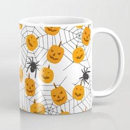 Halloween Pattern Spider Pumpkin Coffee Mug