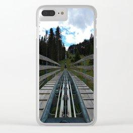 adventure park hög schneisenfeger coaster alps sfl tyrol austria europe Clear iPhone Case