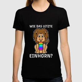 Lion Last Unicorn Eaten Slogan T-shirt