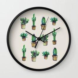 cactus collab franciscomff Wall Clock