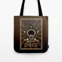 panic at the disco Tote Bags featuring Panic at the disco by mangulica