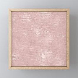 Metallic Rose Gold Blush Framed Mini Art Print