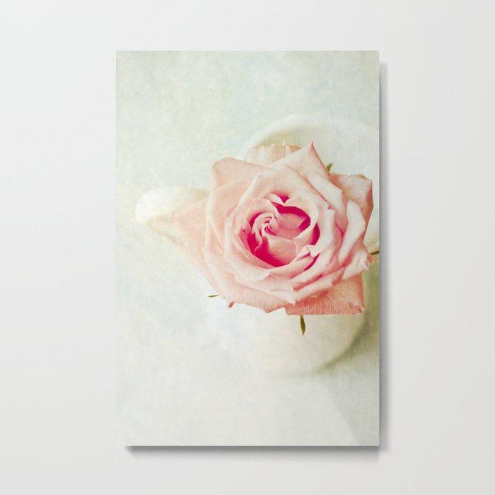 The Rose [Textured] Metal Print