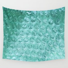 Aqua Bubble Wrap Wall Tapestry