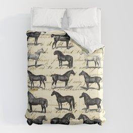 1895 Vintage Horse study Comforters