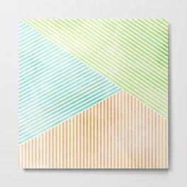 Geometric Color Study I Metal Print