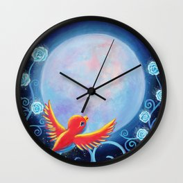 Singing to The Moon Wall Clock