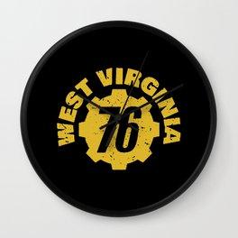 West Virginia 76 Wall Clock
