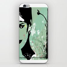 grunge girl iPhone & iPod Skin