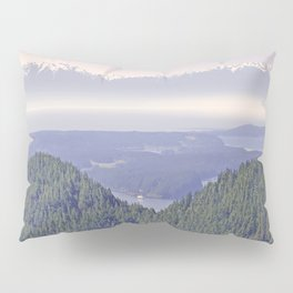 OLYMPIC RANGE AS SEEN FROM ORCAS ISLAND OVER MOUNT ENTRANCE Pillow Sham