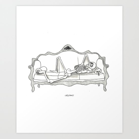 Lazy Bones Art Print