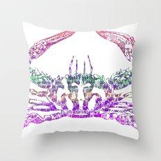 Rainbow Crab Throw Pillow