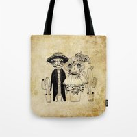 day of the dead Tote Bags featuring Day of the Dead by Mono Ahn