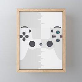 White Game console Framed Mini Art Print