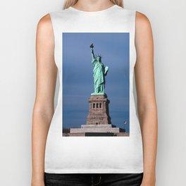 Statue Of Liberty Shines Her Spirit Biker Tank