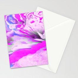 Friendly Enemy Glitched Fluid Art Stationery Cards