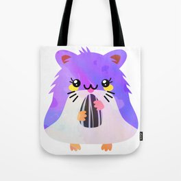 Kawaii Eating Hamster Tote Bag